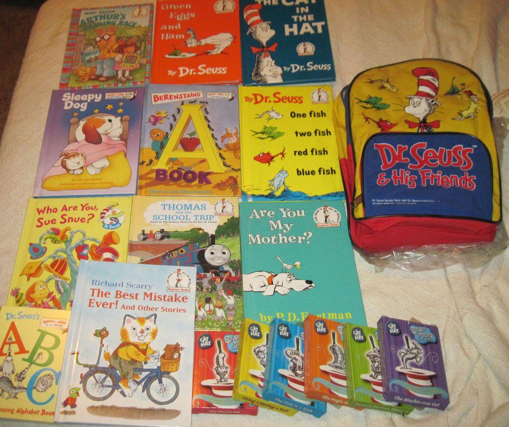 15 Books: 4 Walt Disney, 11 Dr. Seuss & Friends Backpack Ornaments