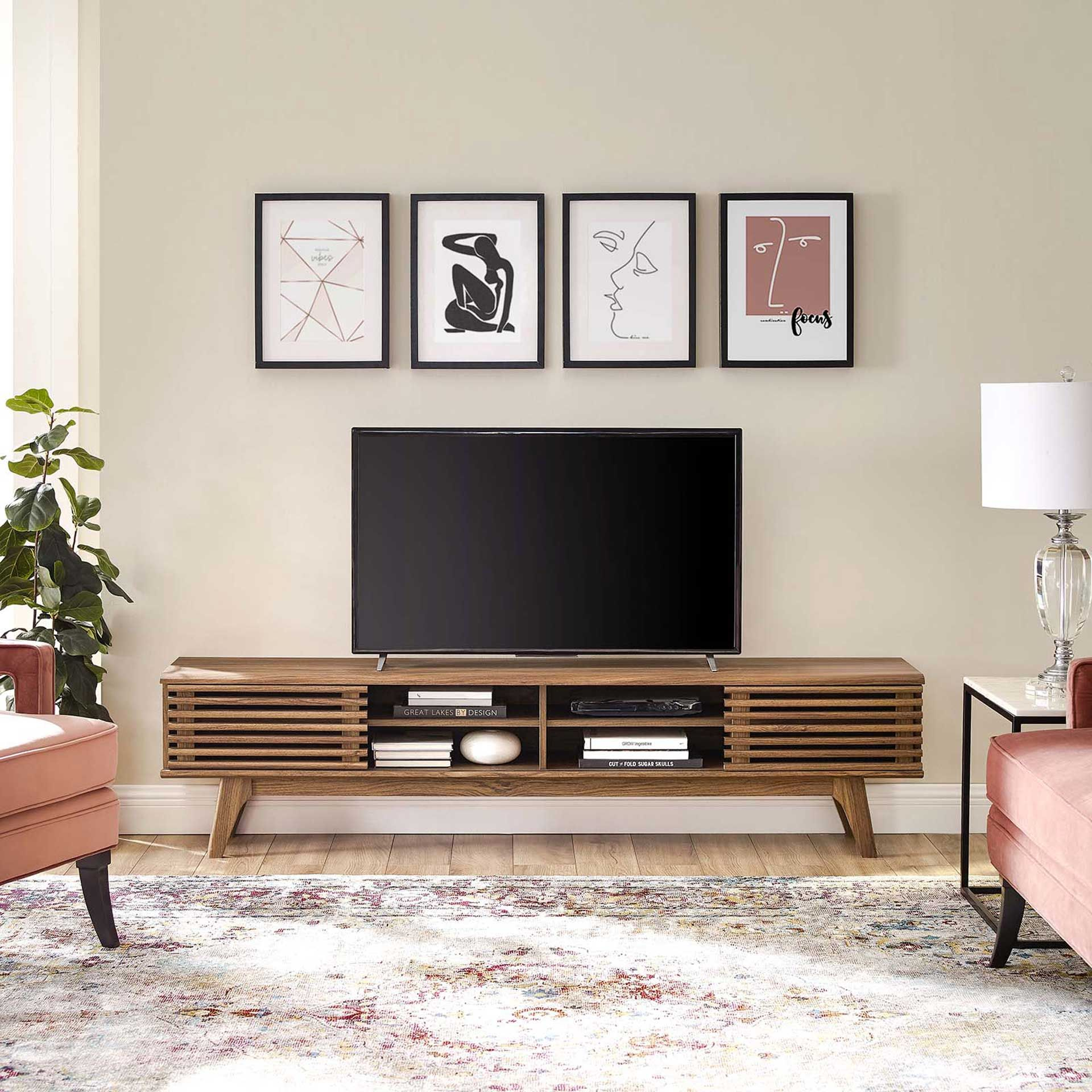 Photo of Reese Entertainment Center TV Stand Walnut