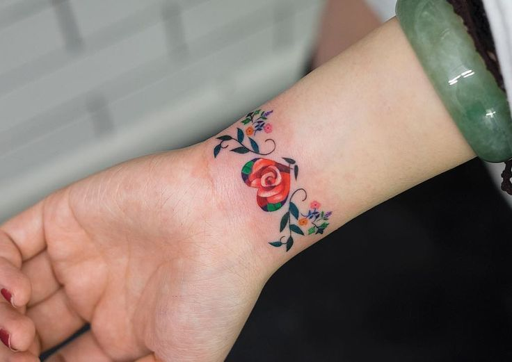 Image Result For Watercolor Wrist Tattoo Flower Wrist Tattoos For Women Flower Wrist Tattoos Tattoos For Women