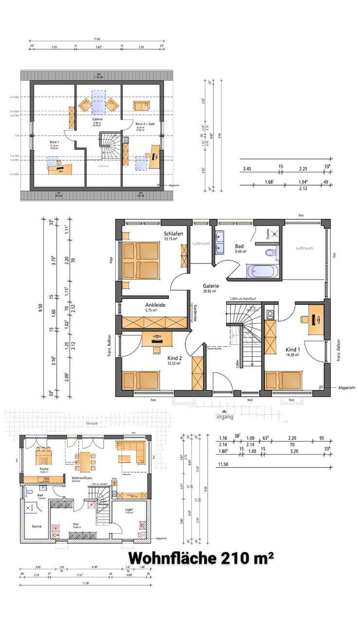 Hausbau Grundrissplanung Einfamilienhaus mit Keller