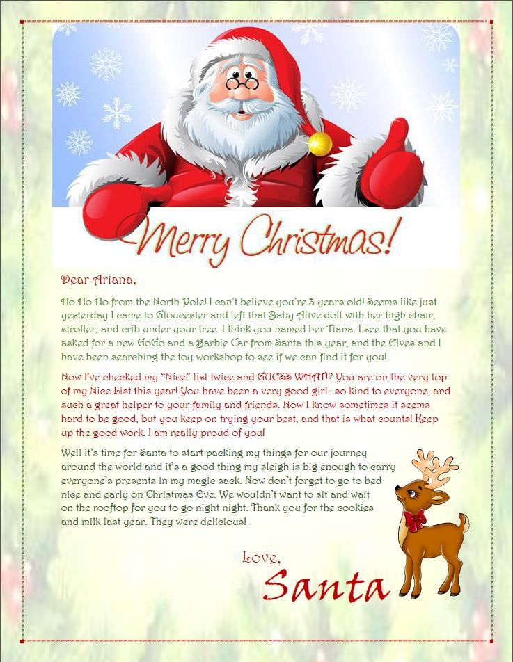 38+ Cheap personalised santa letters inspirations