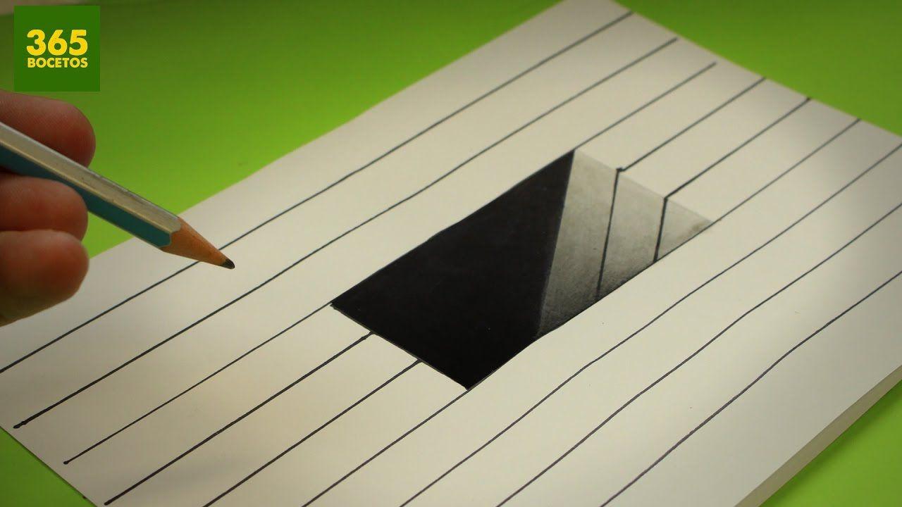Increible Truco Como Dibujar Un Hoyo En 3d Paso A Paso How To Draw Como Dibujar En 3d Ilusion Optica Dibujo Como Dibujar Cosas