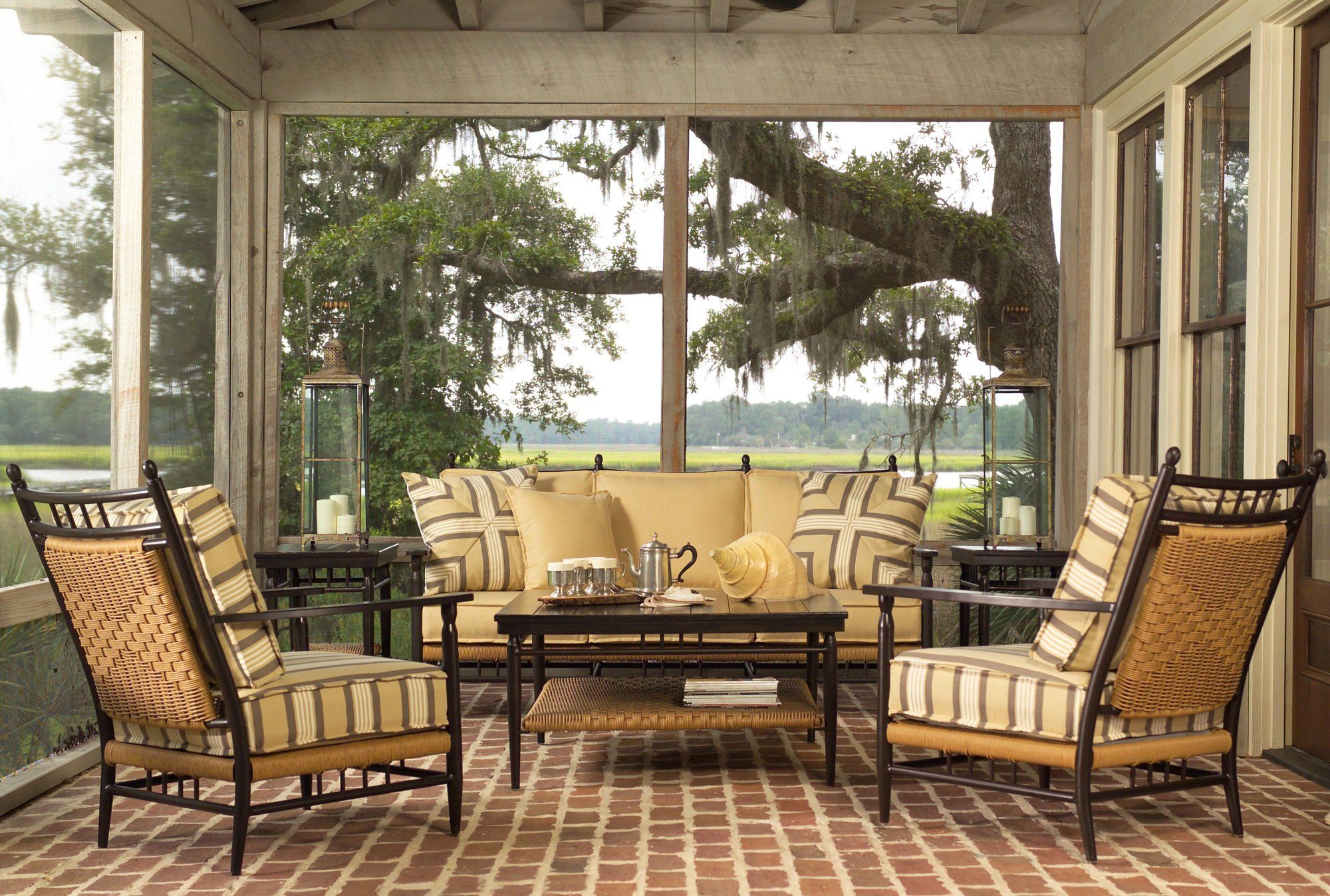 Lloyd Flanders Low Country Aluminum Lounge Set Outdoor Living