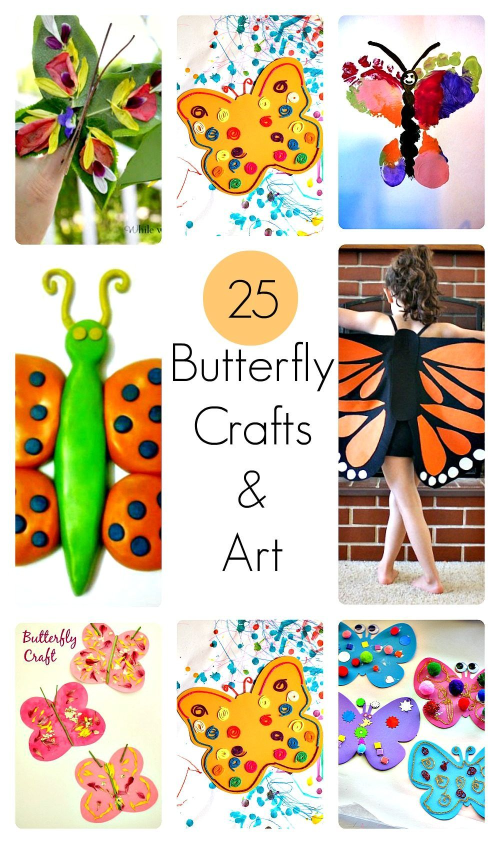 25 butterfly crafts and art activities for kids (With ...