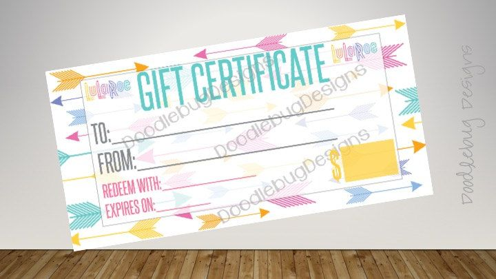 gift certificate (arrows) | gift certificates, certificate and arrow