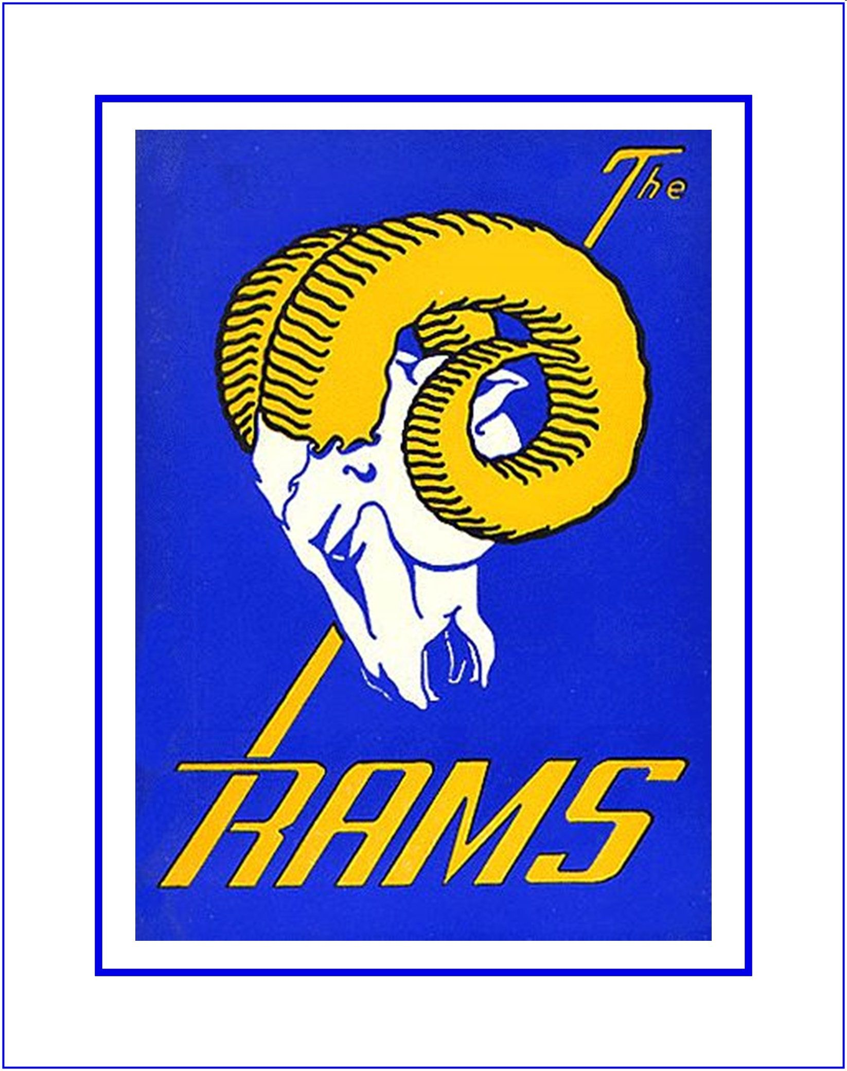 Retro la rams football logo poster fan wall art gift vintage nfl retro la rams football logo poster fan wall art gift vintage nfl sports bar amipublicfo Image collections