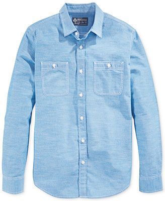 Scotch /& Soda Regular Fit-Classic Pochet Shirt with Roll-up Sleeve Camisa para Hombre