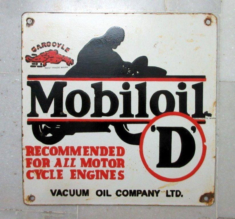 1940 S Vintage Old Rare Gargoyle Mobil Oil D Ad Porcelain Enamel Sign Board Mobiloil Oil Company Signboard Porcelain