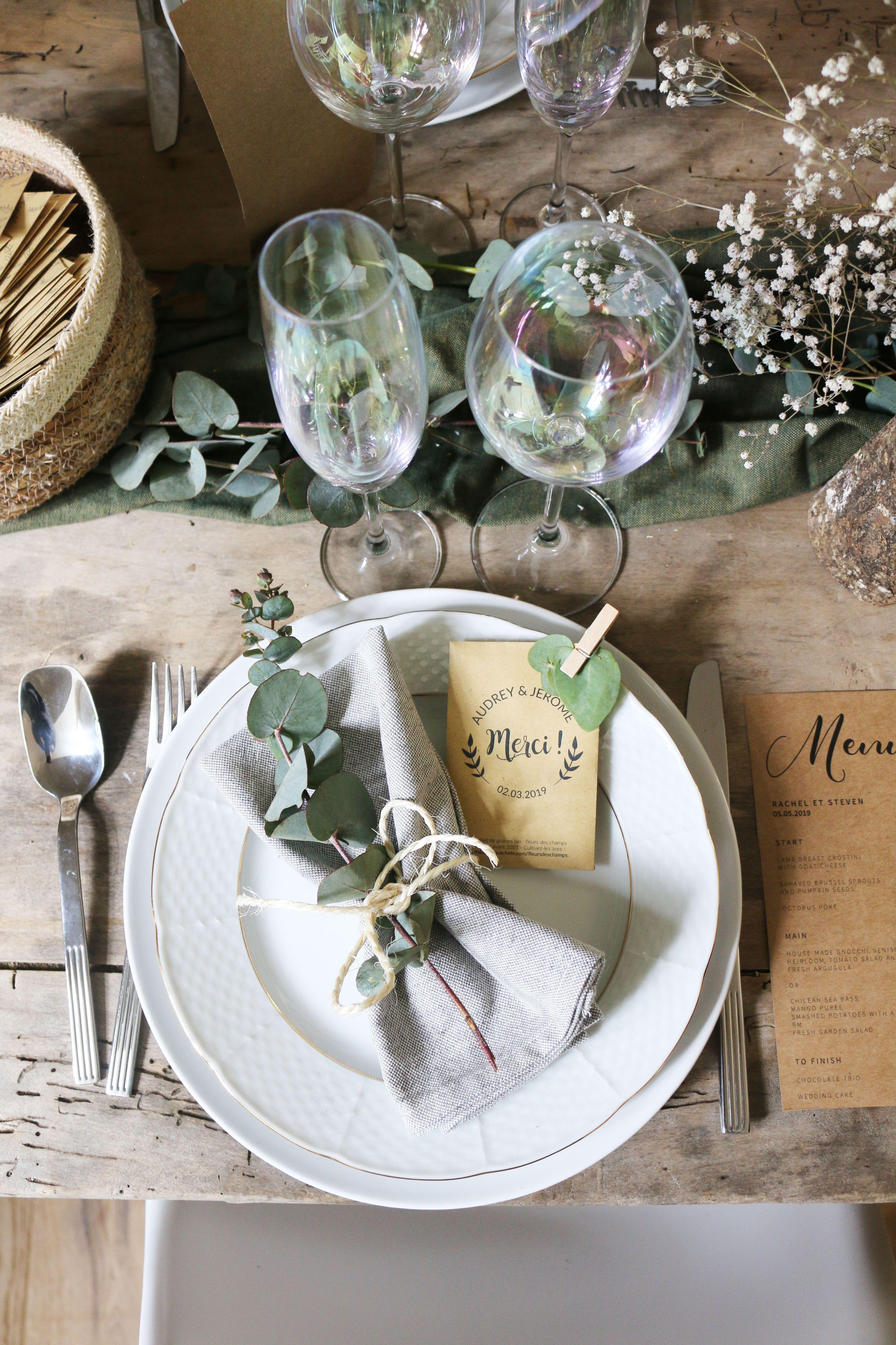 Sachets graines personnalisés pour un cadeau dinvités mariage !