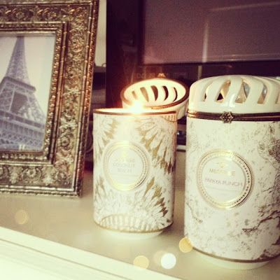 New candles for my living room! Papaya Punch & Coconut Beach <3