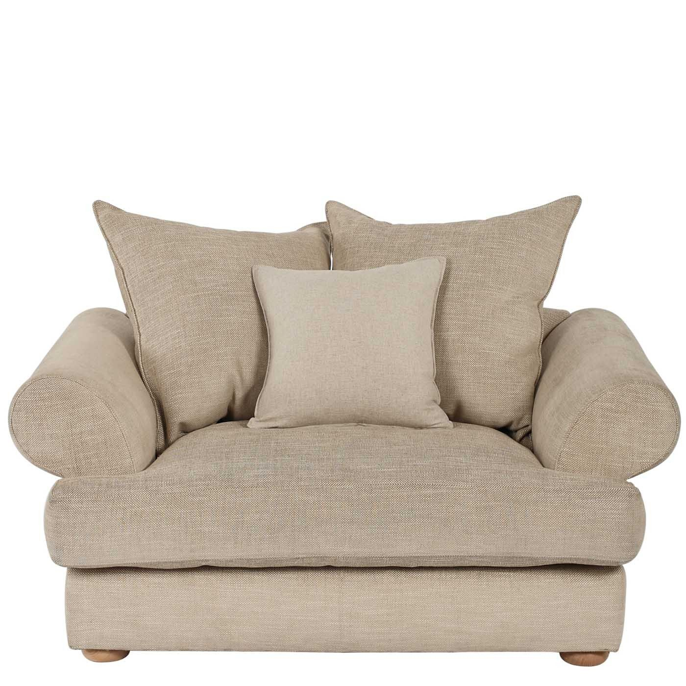 Lincoln chair and a half house furniture overstuffed - Overstuffed leather sofa living room ...