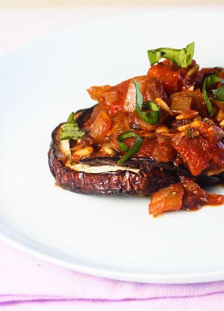 Baked Eggplant with Tomato Chutney