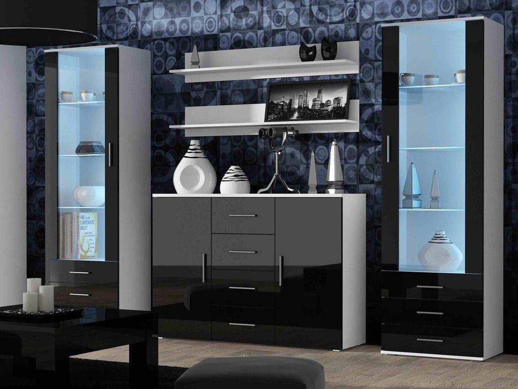 Neue stil zu hause design-bilder  große zier weiß hochglanz wohnzimmer schränke die phantasie  der