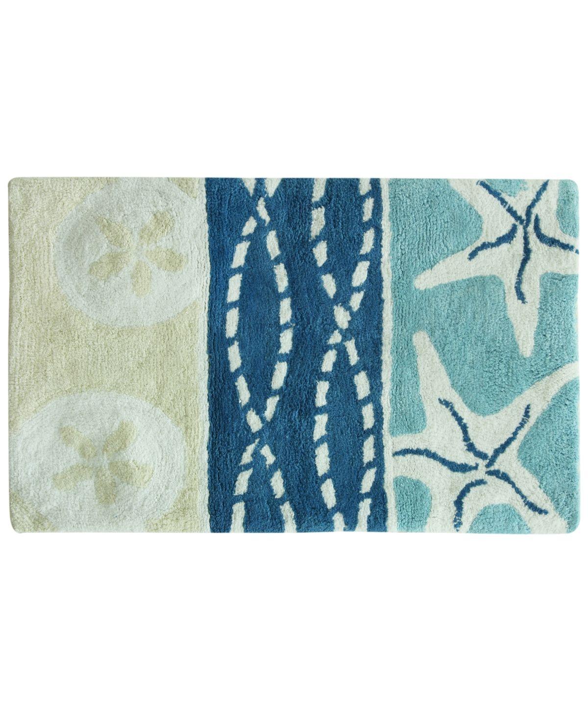 Bacova Coastal Patch Cotton 20 X 30 Bath Rug Multi Cotton
