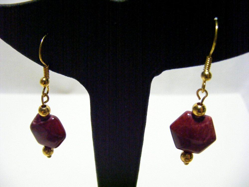Mookaite Gemstone Earrings by carolsmalleydesigns on Etsy