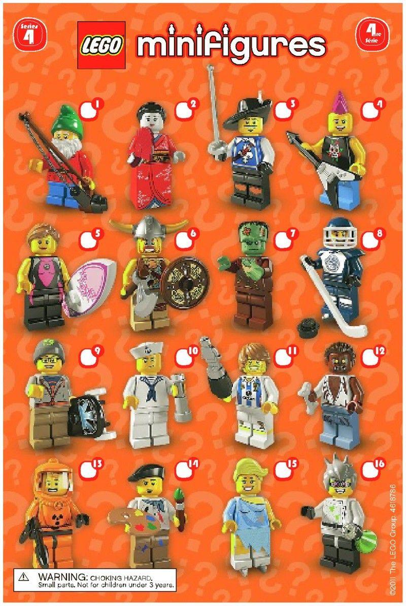 Mini Figures Lego Minifigures Series 4 Lego 8804