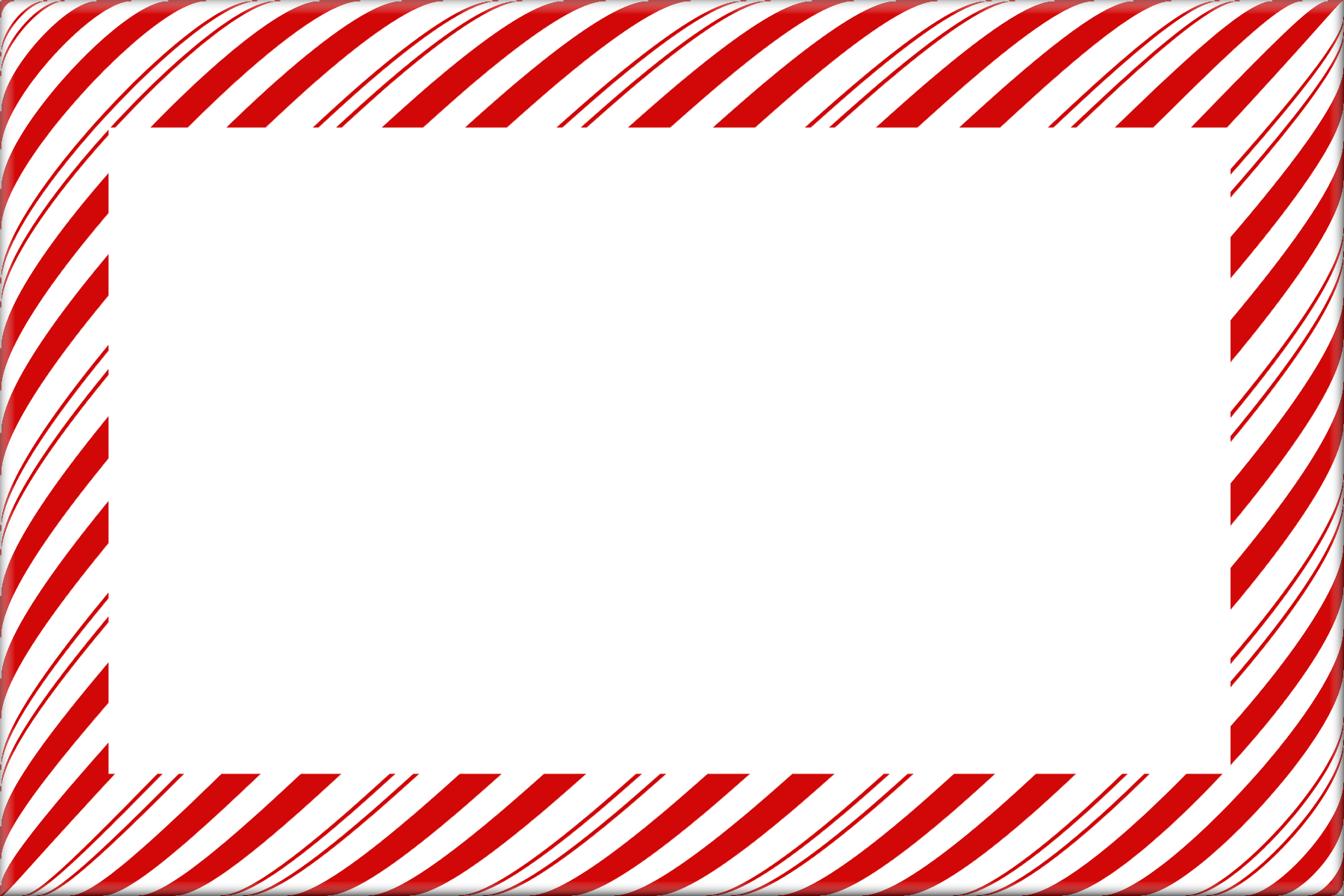 Candy Cane Christmas Borders and