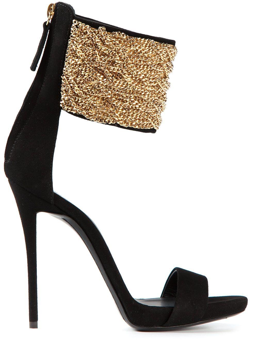 3b6941e49 Giuseppe Zanotti Design Chain Strap Stiletto Sandals - Biondini - Farfetch.com