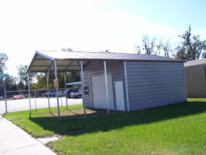 20x31_vertical_roof_double_car_utility_carport Metal