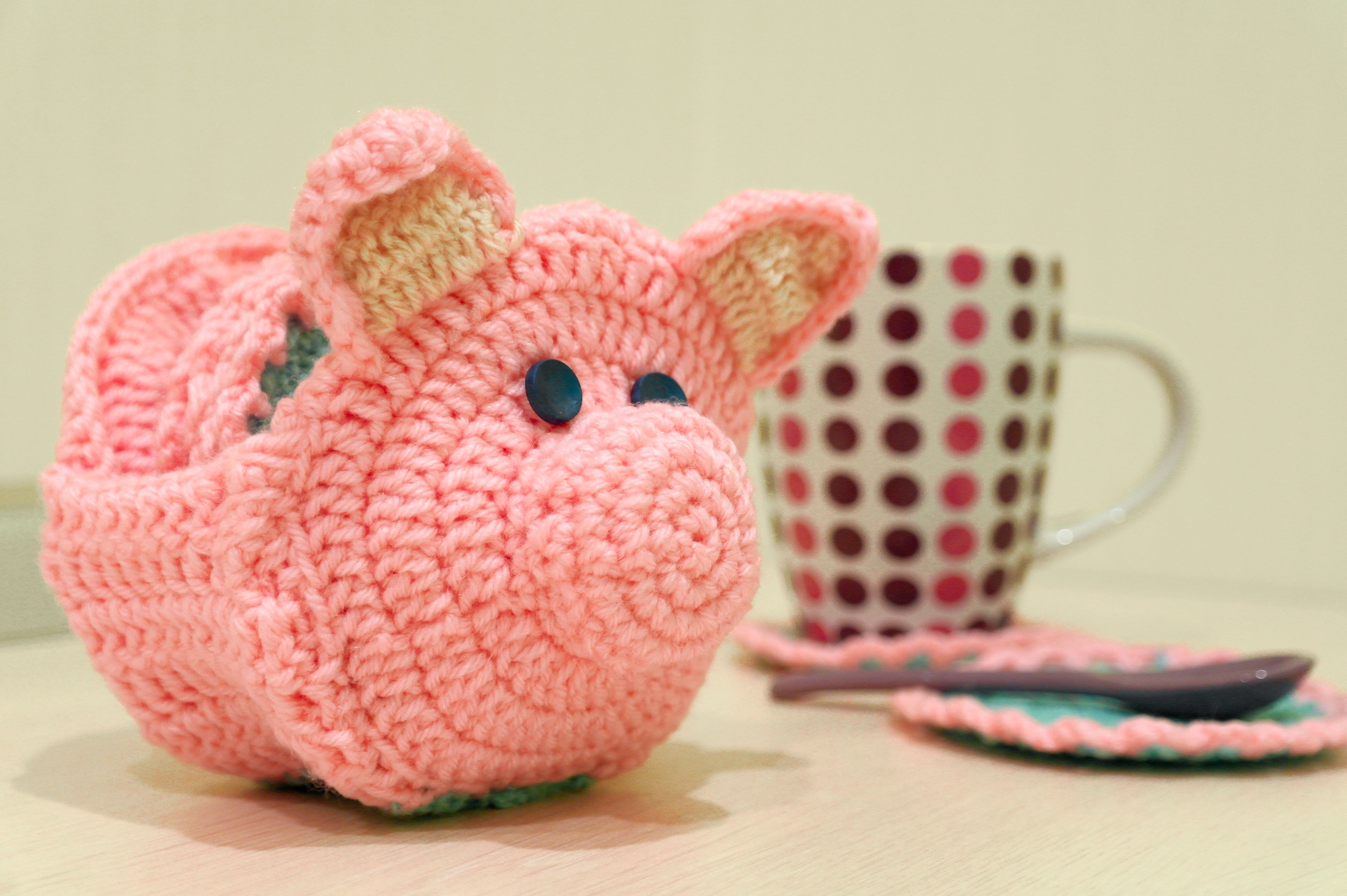 Pig Coasters Coasters Pinky Pig My Works Pinterest Coasters And