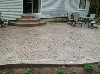 Concrete Backyard Landscaping Design stamped concrete ideas - stamped concrete patio designs - calico