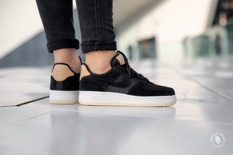 963527ce957 Nike Women s Air Force 1  07 Premium Black Summit White-Light Cream ...