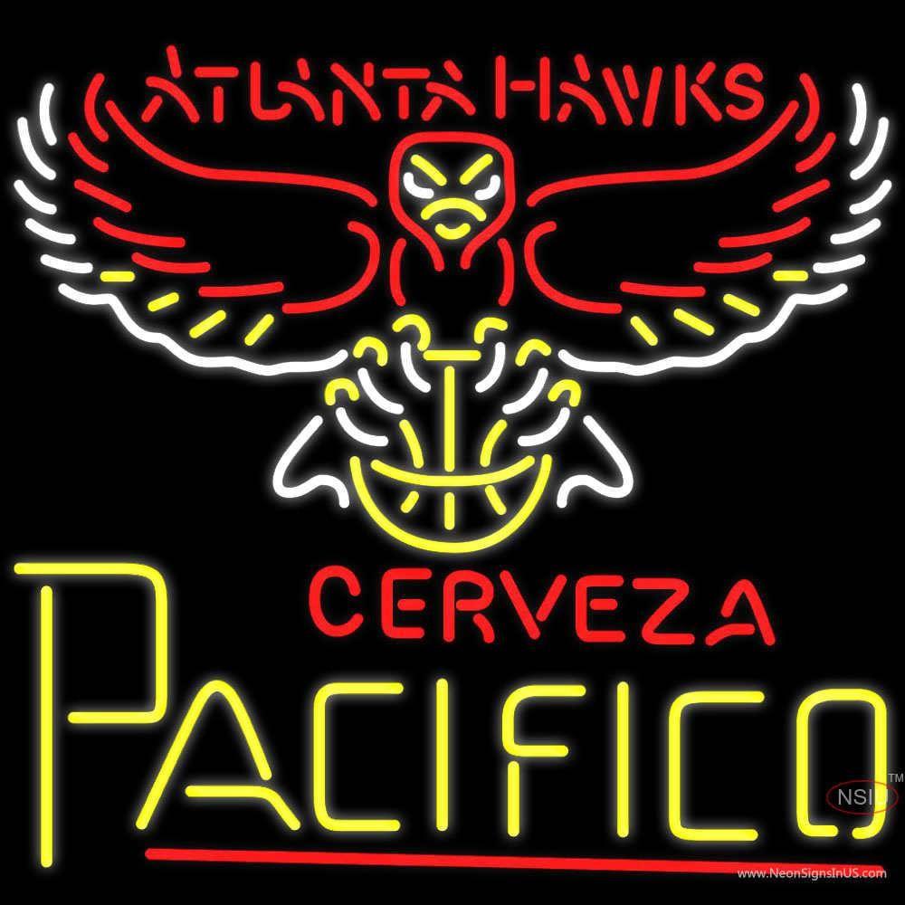 Cerveza Pacifico Atlanta Hawks NBA Neon Beer Sign