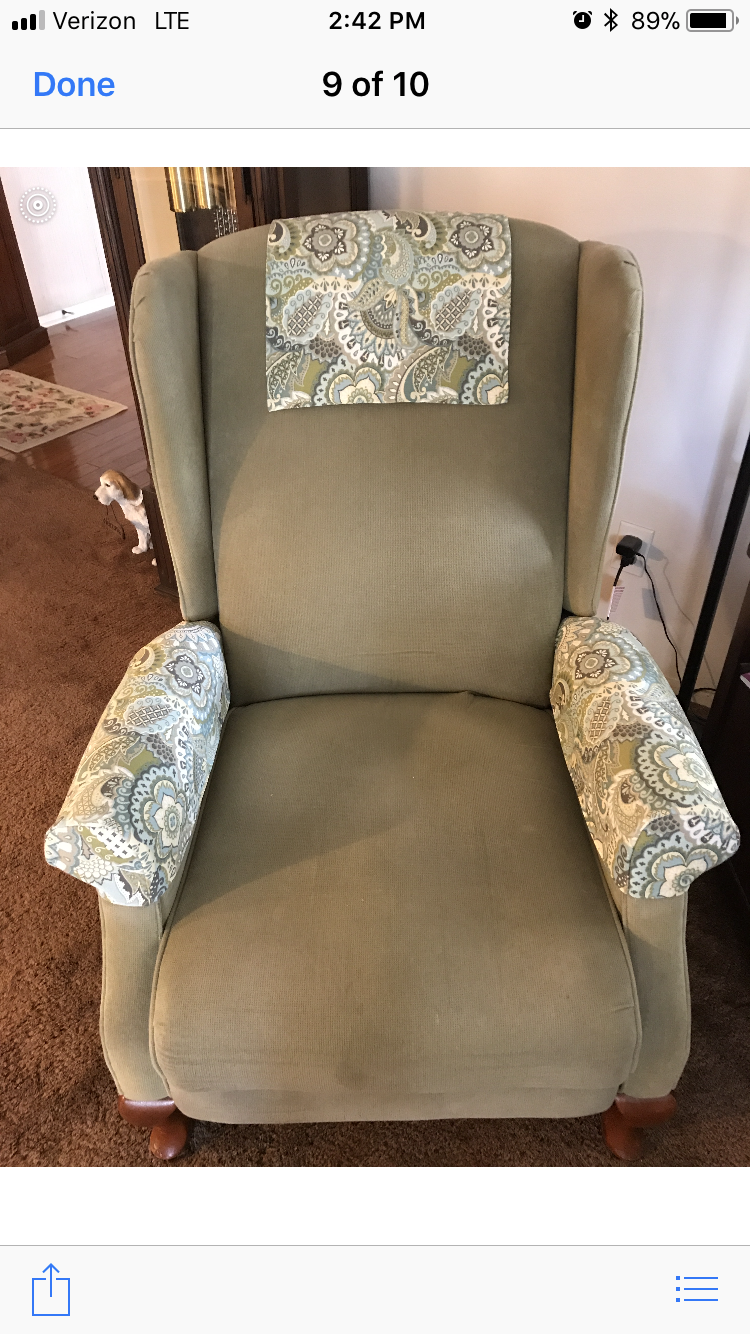 Walmart Furniture Online: Made New Arm And Head Rest Covers.