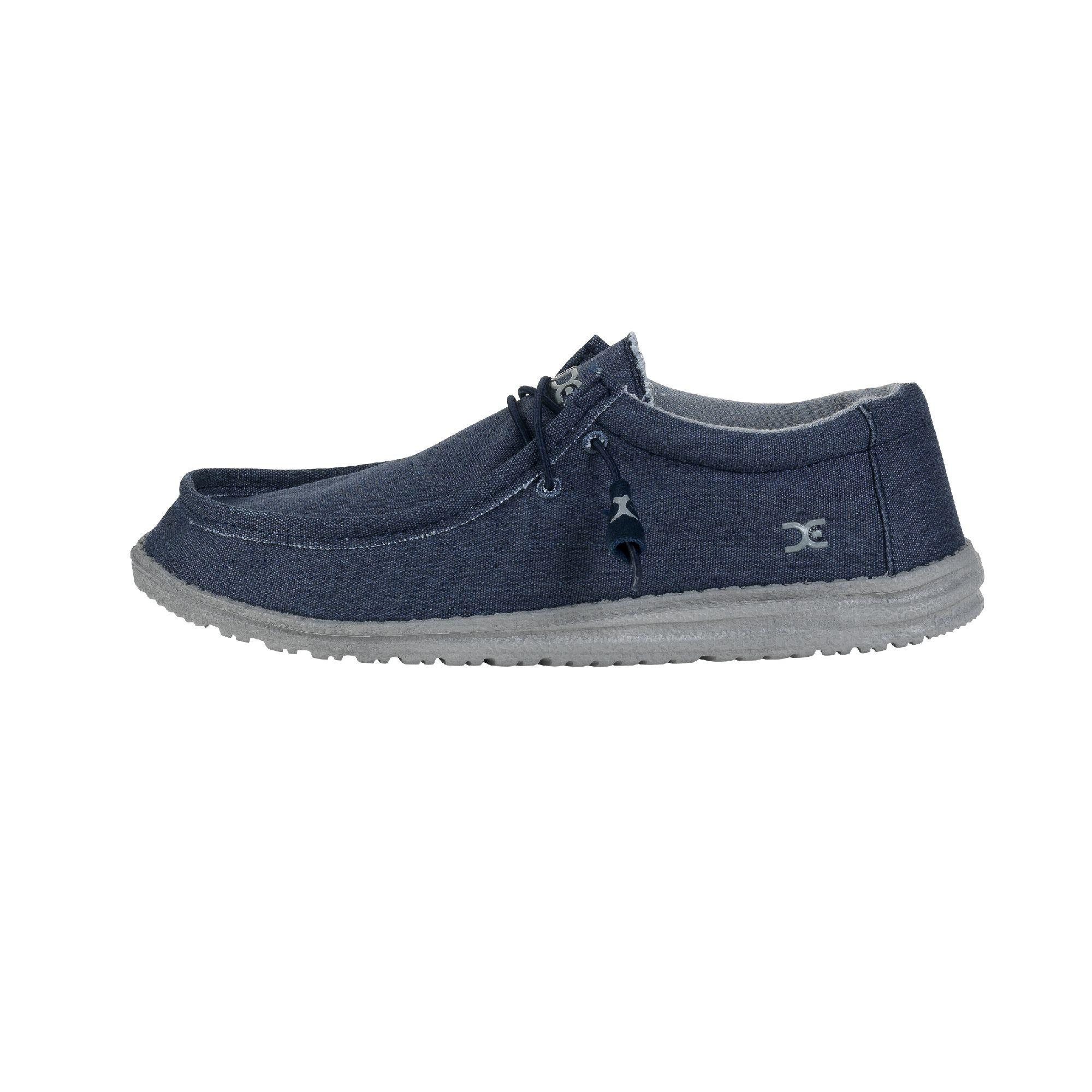 Dude Shoes Men's Volterra Canvas Navy Derby Shoe UK11 / EU45 27ECG