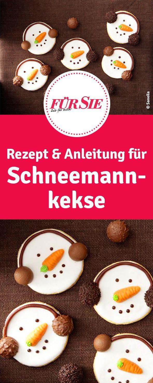 Schneemann-Kekse #fingerfoodweihnachten