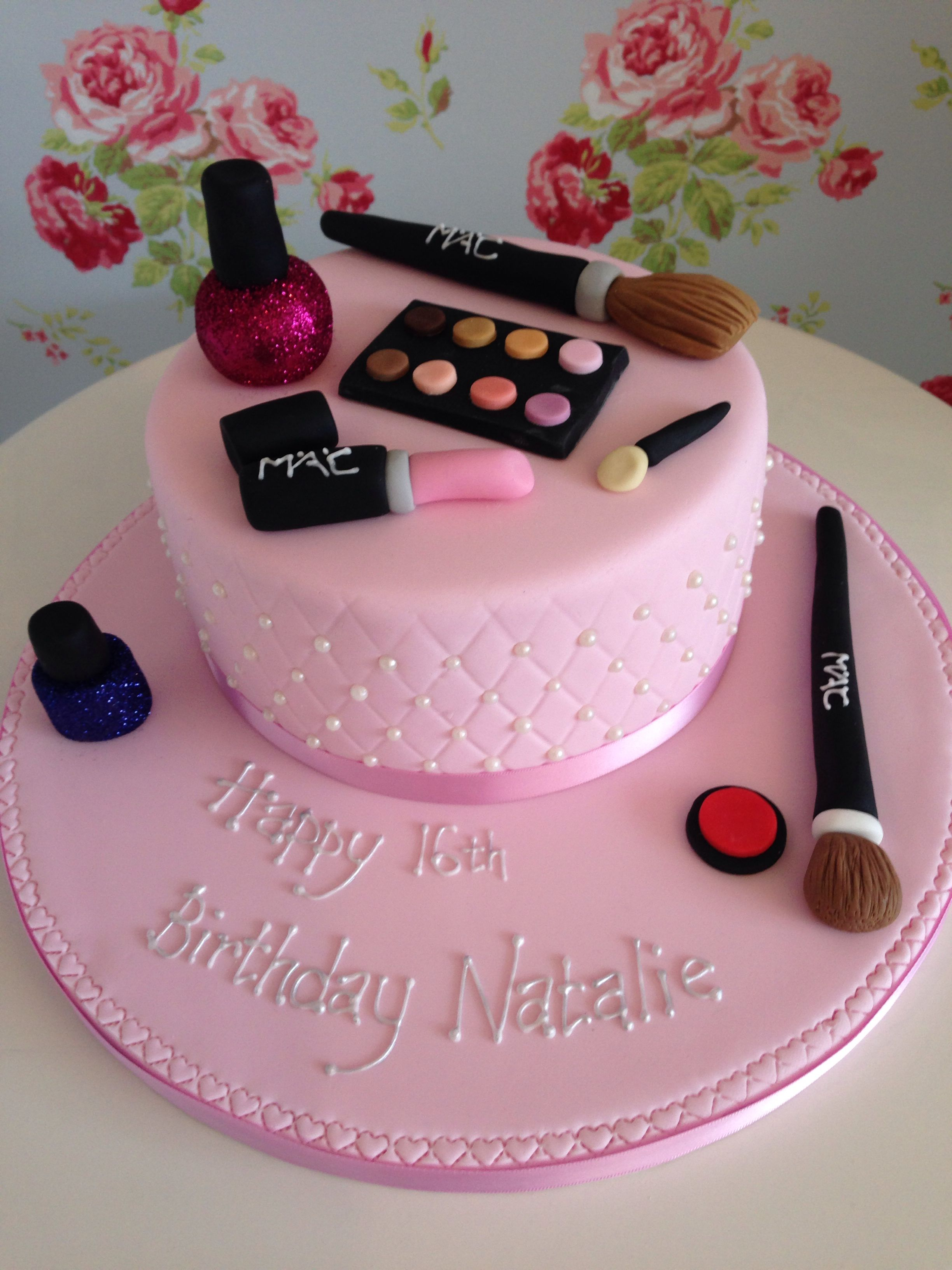 Mac Makeup Cake Make Up Cake Cake Decorating Piping Cake Decorating Tips