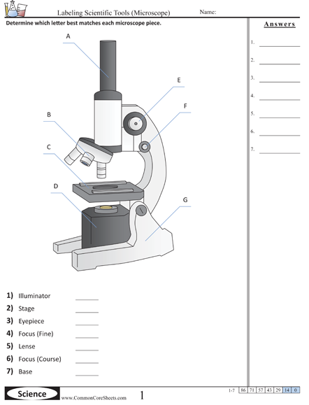 Parts of the Microscope Printables - Word Searches and More ...