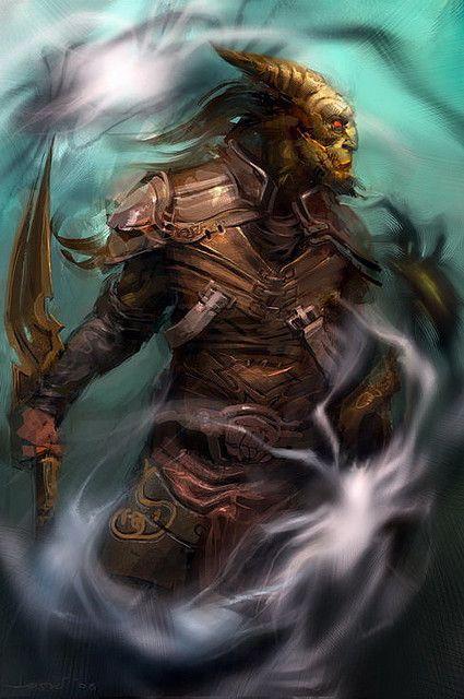 Fire Tiefling Warrior D D Google Search D D Character Art