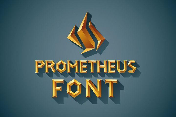 3D Font Set Gold Wood Silver From FontBundles