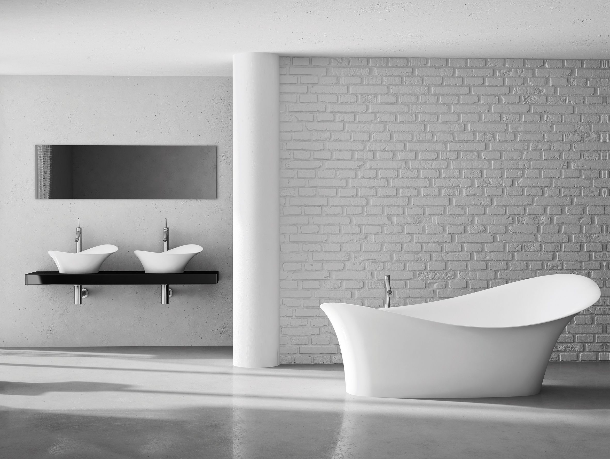 baignoire cedam amon un profil l gant en corolle pour cette baignoire lot vasques poser. Black Bedroom Furniture Sets. Home Design Ideas