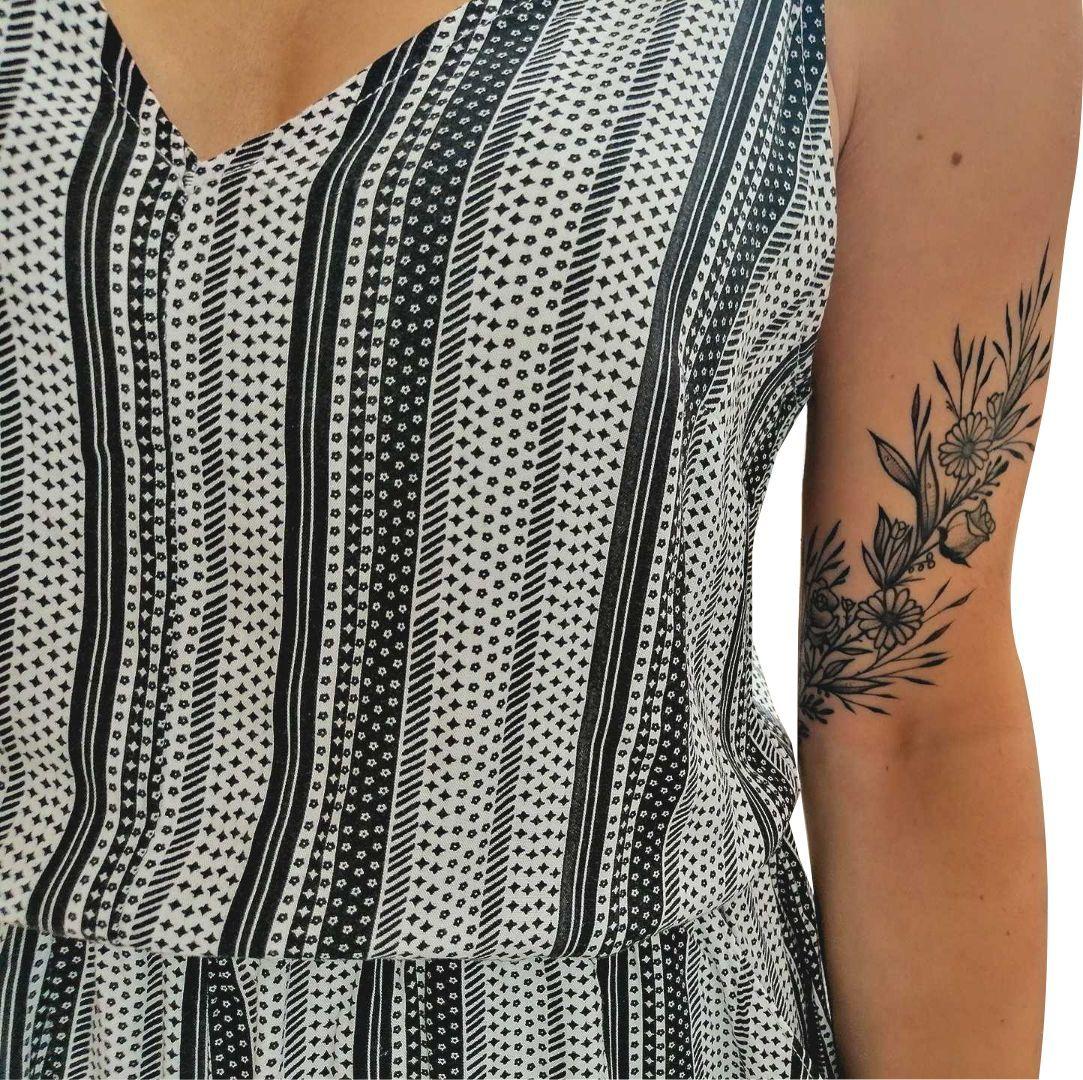 #tattoo#bandtattoo#armtattoo#floraltattoo#bracelettattoo