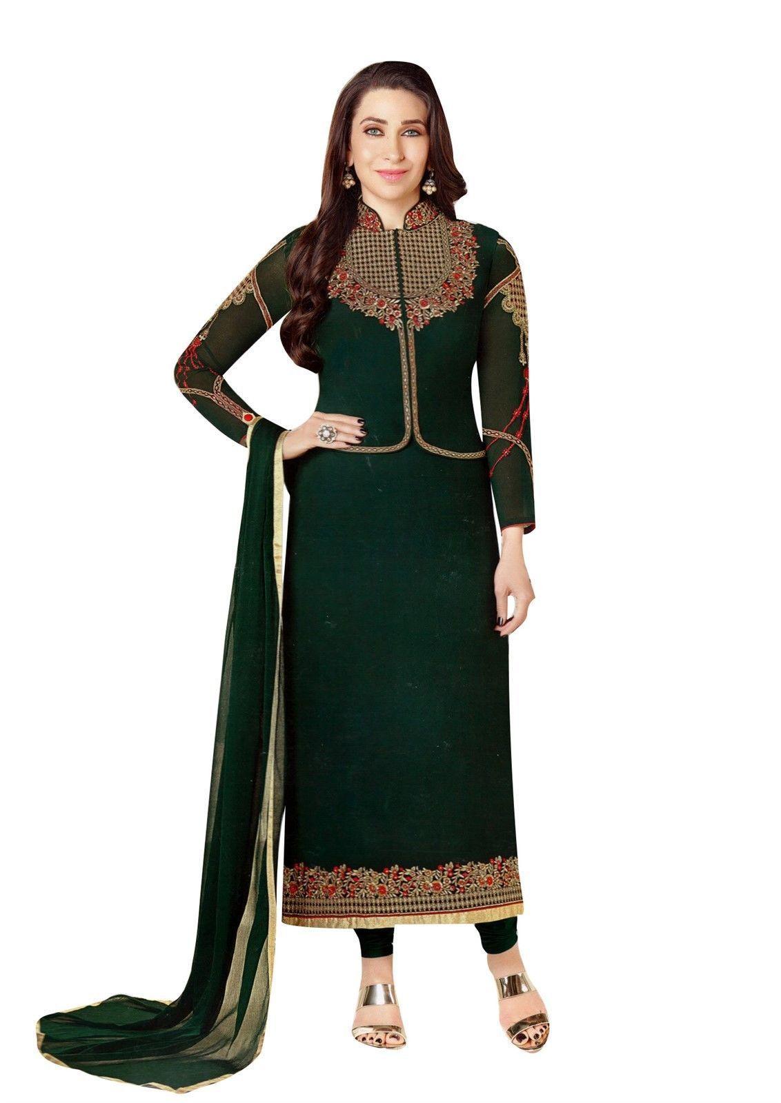 711ce979f1 Readymade Designer Salwar Kameez Wedding Partywear Chiffon Embroidered with  Jacket Koti Indian Dress #Designer #SalwarSuit #FreeShipping #SalwarKameez  ...