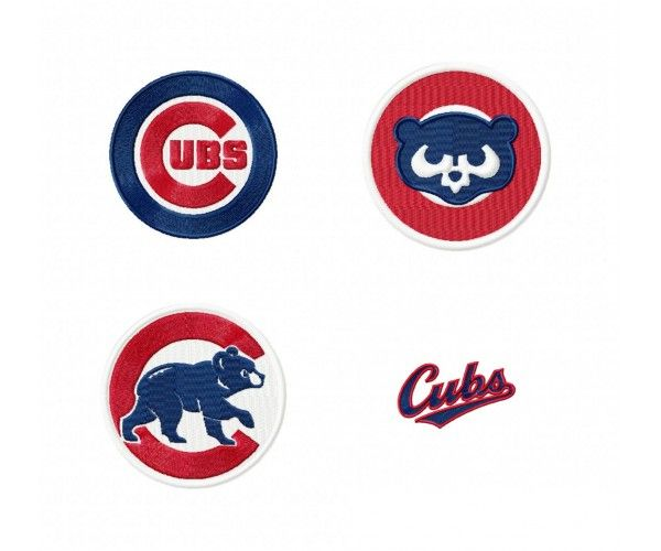 Chicago Cubs Logo Machine Embroidery Design For Instant Download