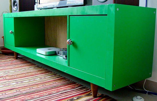 diy so wird das expedit zur tv bank im vintage traum. Black Bedroom Furniture Sets. Home Design Ideas
