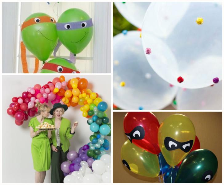 con globos para decorar una fiesta de cumpleaos