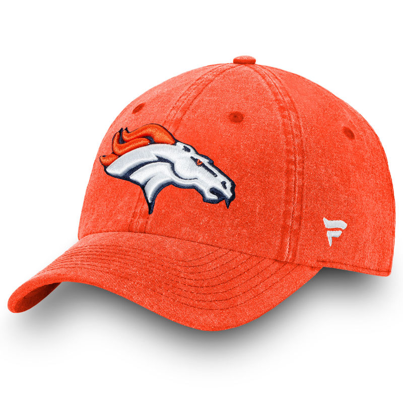7fce2e05b Denver Broncos NFL Pro Line by Fanatics Branded Timeless Core Fundamental  Adjustable Hat – Orange