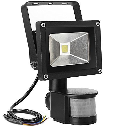 Le 10w Super Bright Motion Sensor Flood Light Outdoor Led Flood Lights 700lm 100w Equivalent 6000k Daylight White Security Lights Led Flood Lights Flood Lights