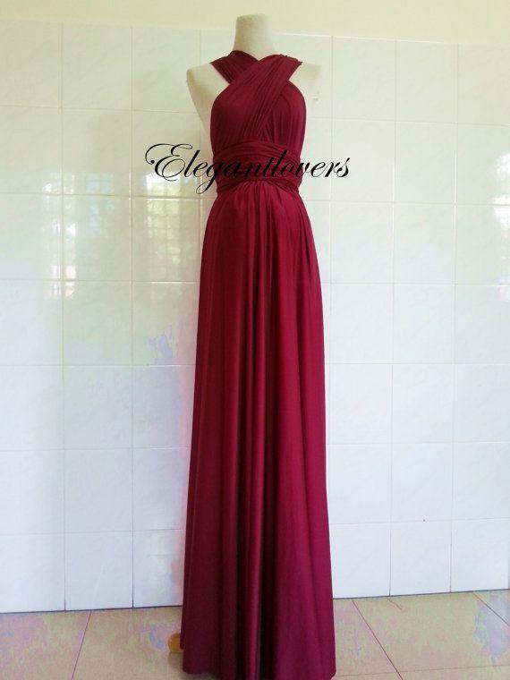 85f770cf810 Red Wine Merlot Burgundy Maternity Dress Wedding Maroon Infinity ...