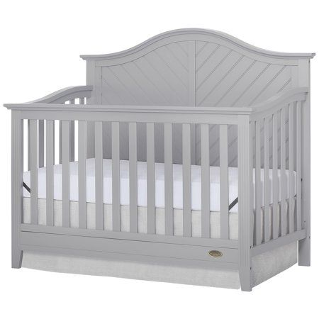 Dream On Me Ella 5 In 1 Convertible Crib Pebble Grey Walmart Com Walmart Baby Cribs White Baby Cribs Convertible Crib