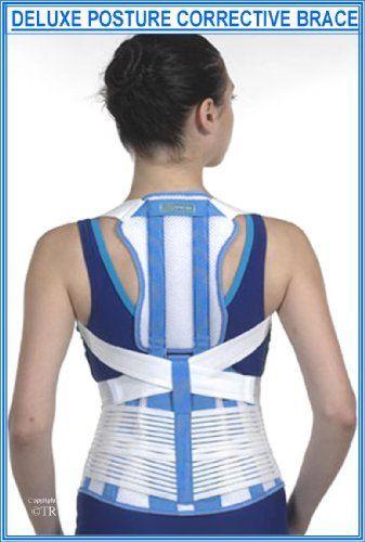 Amazon com: Prolineonline Deluxe Posture Brace & Back Lumbar