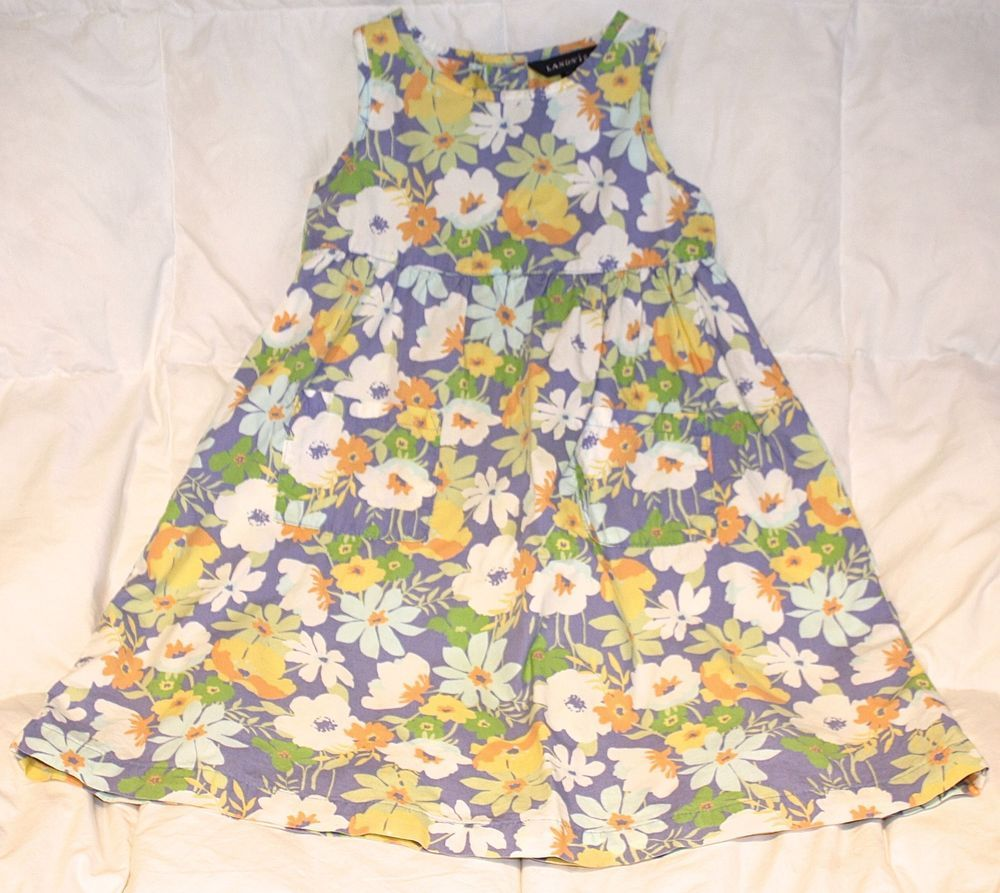 NWOT NEW LANDS' END Girls 4T Spring/Summer Dress: High Quality Cotton and SWEET!