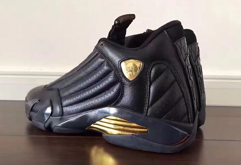 DMP Air Jordan 14 Black Gold Red 487471-022  e366d3204