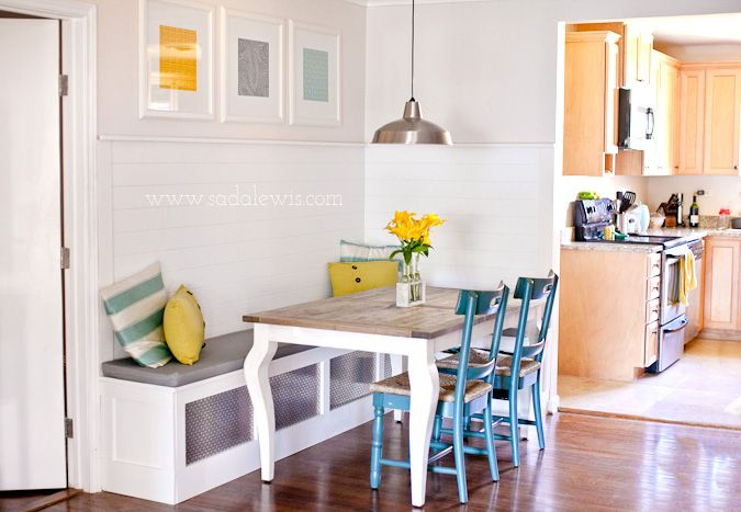 Diy dining nooks and banquettes banquet finals and kitchen banquette diy nooks and banquettes ideas tutorials including this diy kitchen banquette from casa de lewis solutioingenieria