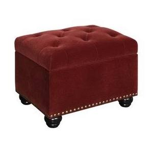 Ottoman With Wheels Burgundy Google Search Ottoman Fabric