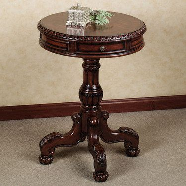 Cortona Round Pedestal Table Pedestal Table Small Accent Tables Accent Table